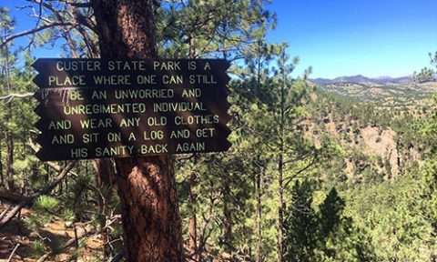 Lovers' Leap Trail inside Custer State Park