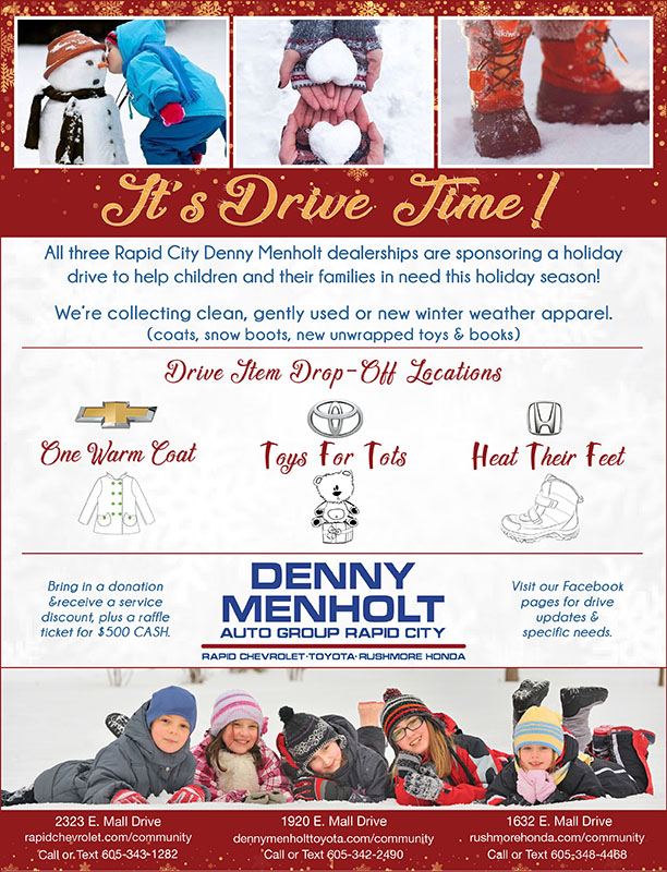 Denny Menholt Holiday Drive Heat Their Feet Rushmore Honda in Rapid City, South Dakota